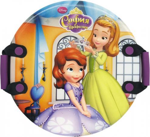 Ледянка Disney София (круглая, с плотными ручками), 54 см ледянка 54см круглая с плотными ручками человек паук