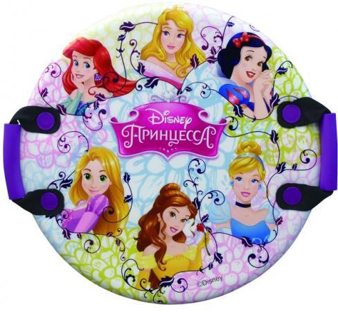 Ледянка Disney Принцессы (круглая, с плотными ручками), 54 см ледянки disney ледянка disney тачки круглая с плотными ручками 54 см