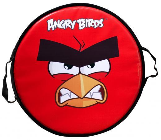 Ледянка 1toy Angry birds круглая до 100 кг ПВХ красный Т58162 цена