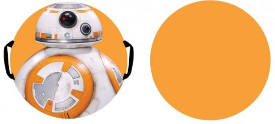 Ледянка 1Toy Star Wars Дрон ВВ-8, 52 см, круглая