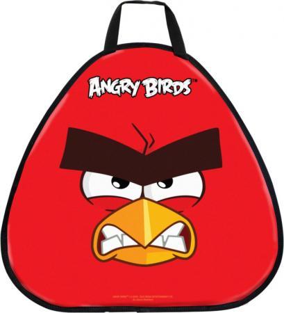 Ледянка 1Toy Angry Birds 52х50 см, треугольная ледянка выпуклая с плотными ручками 94см angry birds 1toy