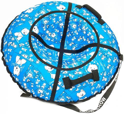 Купить Тюбинг R-Toys Собачки на голубом до 120 кг полипропилен ПВХ рисунок 6785, Санки, снегокаты, тюбинги