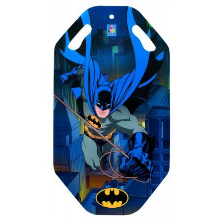 Купить Ледянка 1toy Бэтмен до 100 кг пластик синий рисунок Т10470, Санки, снегокаты, тюбинги