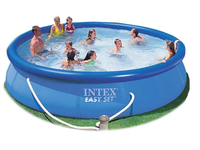 Надувной бассейн INTEX Easy Set 457х91х91см.(насос-фильтр,лест.,настил,тент,наб. д/чистки) 220в. надувной бассейн intex easy set 28166