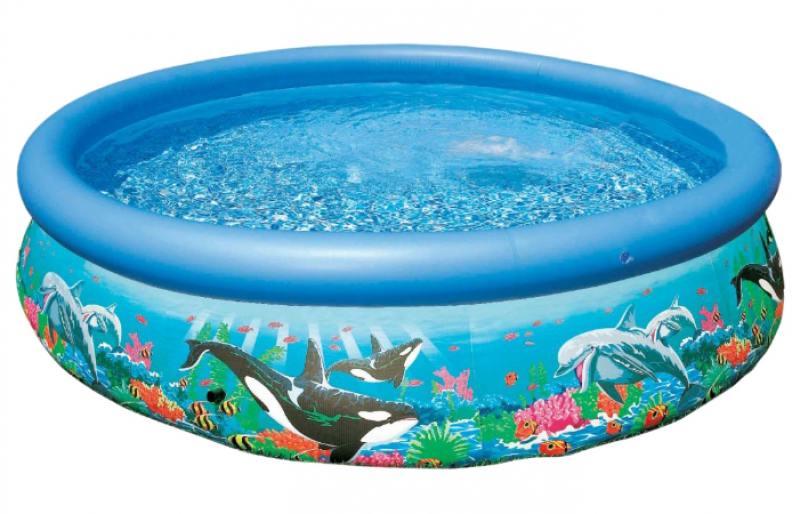 Надувной бассейн INTEX Easy Set риф океана 366х76см бассейн intex круглый easy set 366х91 см