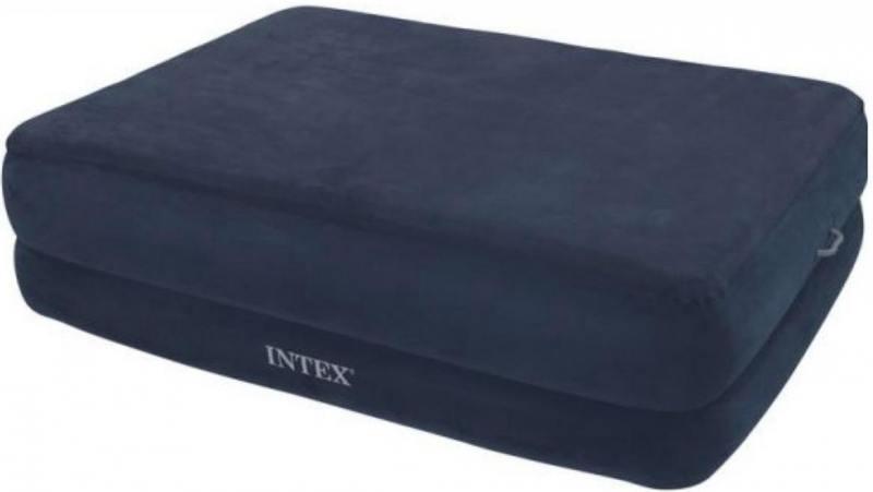 Надувной матрас-кровать INTEX райзинг комфорт 152х203х56см,эл.насос 220в.на провод.дист.управ. матрас надувной intex 152 203 38 с насосом