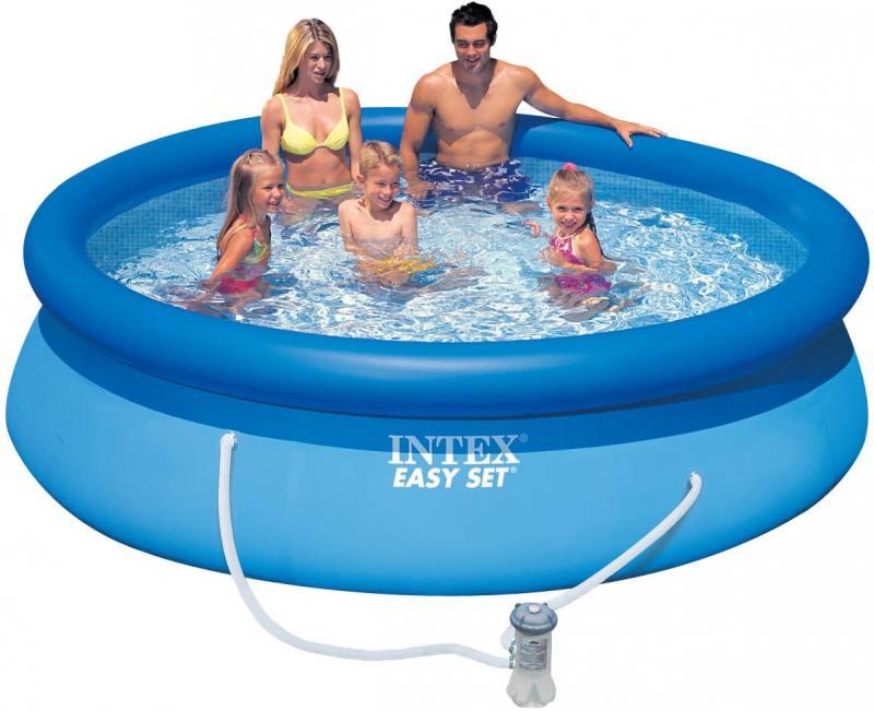 Надувной бассейн INTEX Easy Set, 305х76 см 28122 надувной матрас camping mats 127х193х24см intex