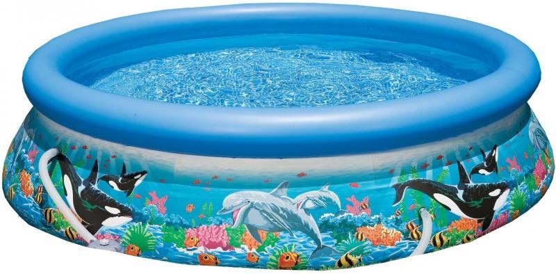 Надувной бассейн INTEX Easy Set с рисунком 305х76 см 28124 надувной матрас camping mats 127х193х24см intex