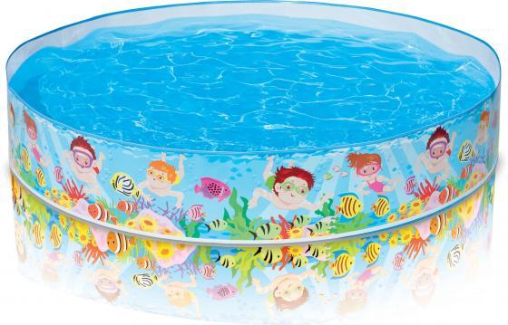 Надувной бассейн Intex жёстк.пляж 152х25см от 3лет черепаха intex надувная 191 170см от 3лет