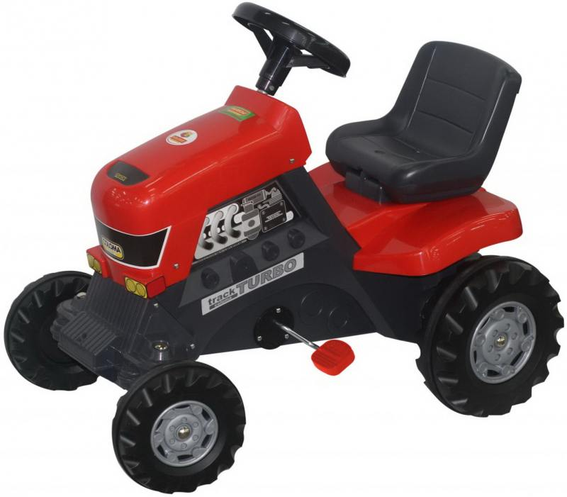 Каталка-трактор с педалями Turbo 52674 каталки coloma тримарк 2 с панелью