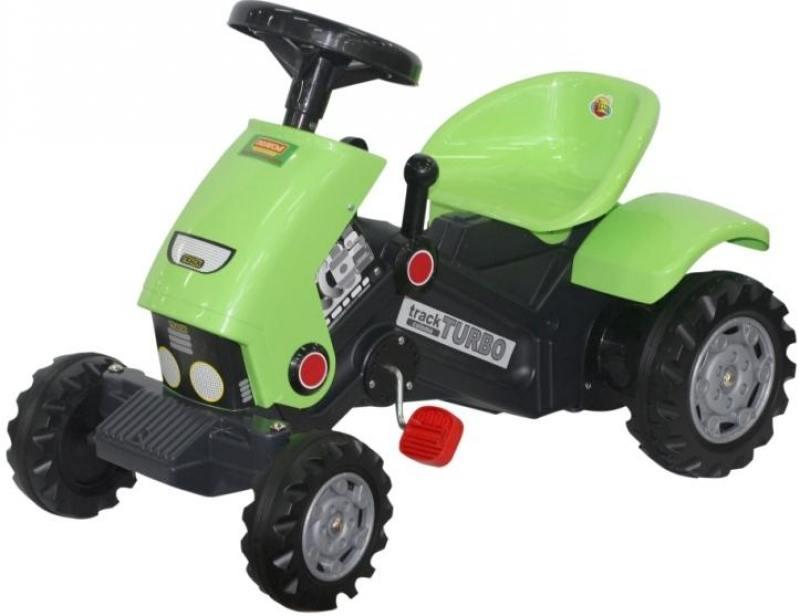 Каталка-трактор с педалями Turbo-2 52735 каталка полесье с педалями и полуприцепом трактор turbo 2