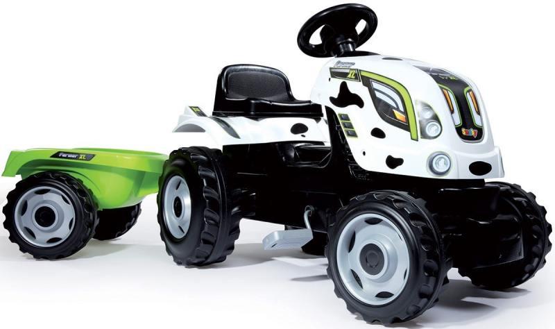Трактор педальный Smoby XL с прицепом, пятнистый, 142*44*54,5см 710113