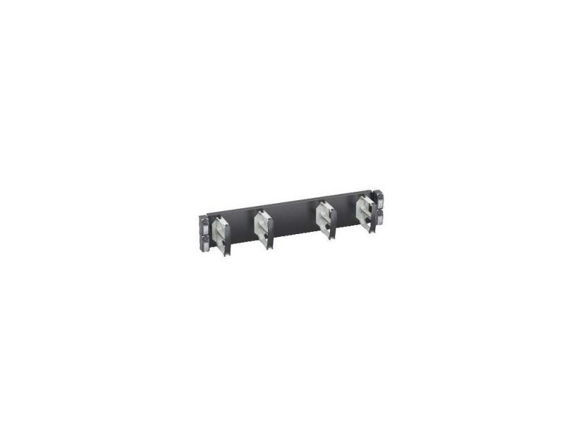 Горизонтальный кабельный органайзер Schneider Electric Actassi VDIG188142 19 2U 4 кольца панель лицевая schneider electric actassi 1 модуль белый 24 шт vdi88240
