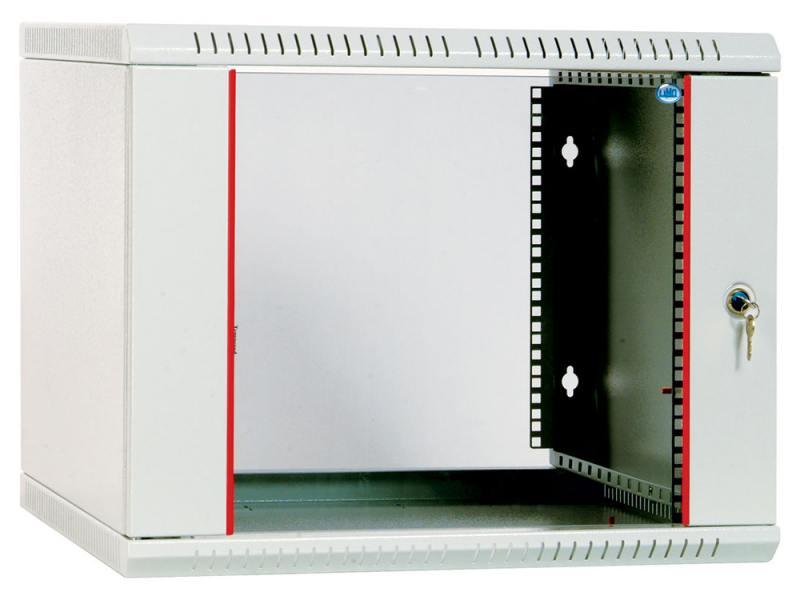 Шкаф настенный разборный 18U ЦМО ШРН-Э-18.650 600x650mm дверь стекло серый от OLDI