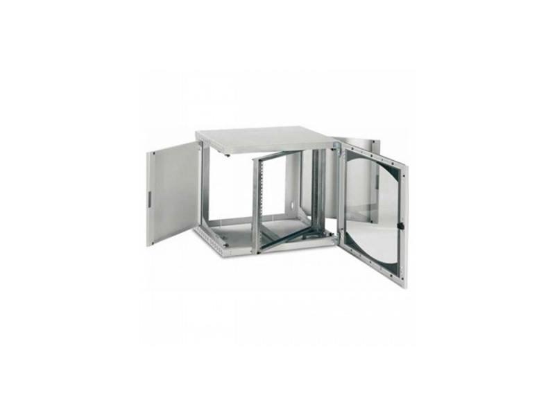 Шкаф настенный 19 6U Schneider Electric Actassi Wall-Mounted OPB с поворотной рамой NSYOPB6U4P панель лицевая schneider electric actassi 1 модуль белый 24 шт vdi88240