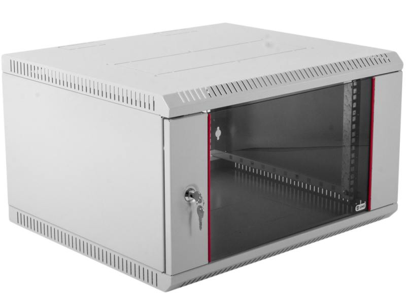 Шкаф настенный разборный 9U ЦМО ШРН-Э-9.500 600х520mm дверь стекло серый от OLDI