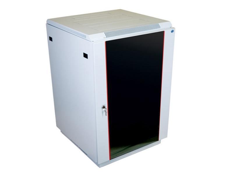 Шкаф напольный ЦМО 19 ШТК-М-18.6.8-1AAA 18U, 600x800мм, дверь стекло шкаф напольный 27u цмо штк m 27 6 6 1aaa 600x600mm дверь стекло 2 коробки
