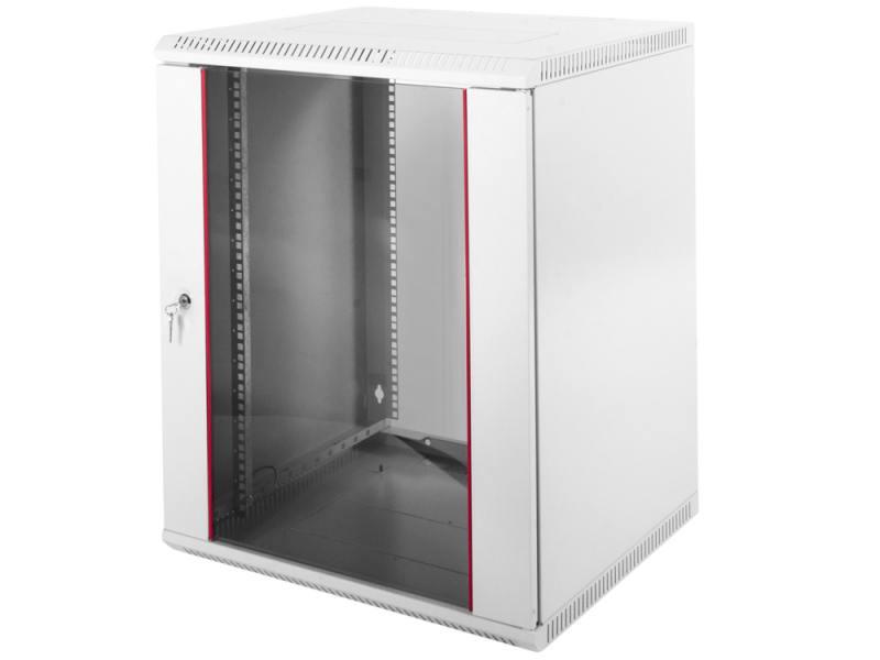 Шкаф настенный ЦМО разборный (ШРН-Э-12.350) 12U, 600x350мм, дверь стекло