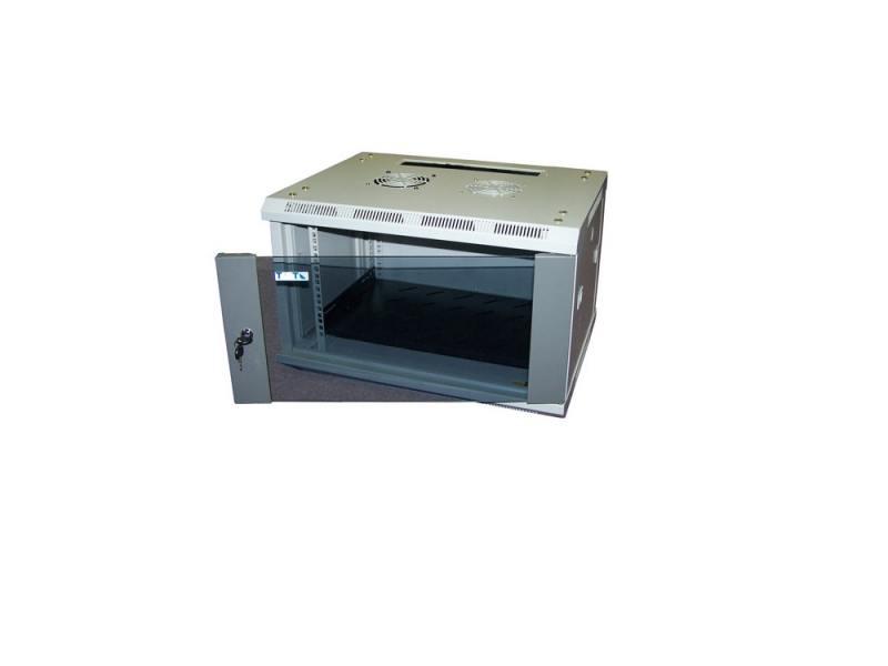 Шкаф настенный 12U Lanmaster TWT-CBWL-12U-6X4 600x450mm стеклянная дверь