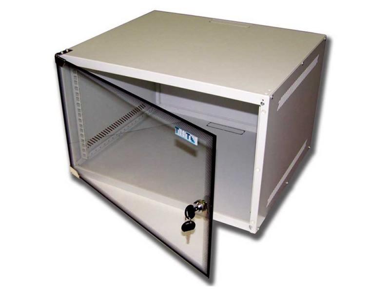 Шкаф настенный 4U Lanmaster TWT-CBWL-4U-6X4 600x450mm стеклянная дверь