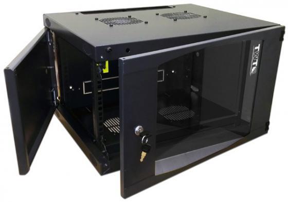 Шкаф настенный 12U Lanmaster TWT-CBWNG-12U-6X6-BK 550x600mm черный 60кг