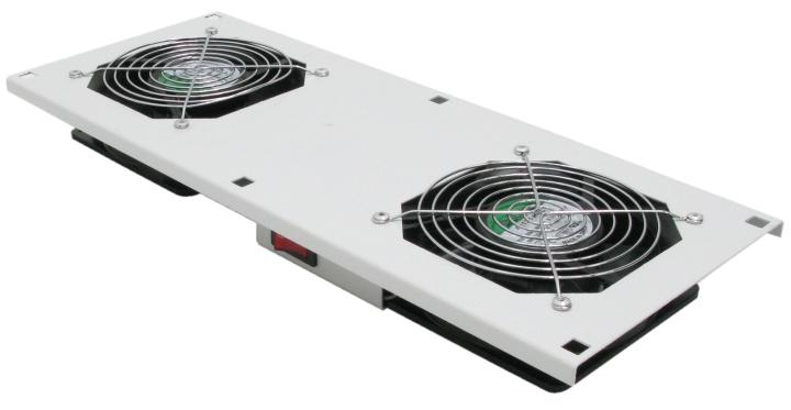 Картинка для Модуль вентиляторный в крышу, серый, 2 вентилятора, NT ROOFFAN G
