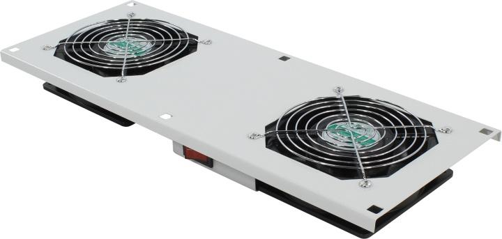 Картинка для Модуль вентиляторный в крышу, серый, 2 вентилятора, с термореле, NT ROOFFAN-Т G