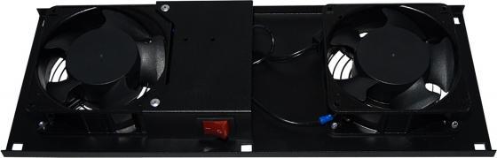 Модуль вентиляторный в крышу, чёрный, 2 вентилятора, с термостатом, NT ROOFFAN-ТС B