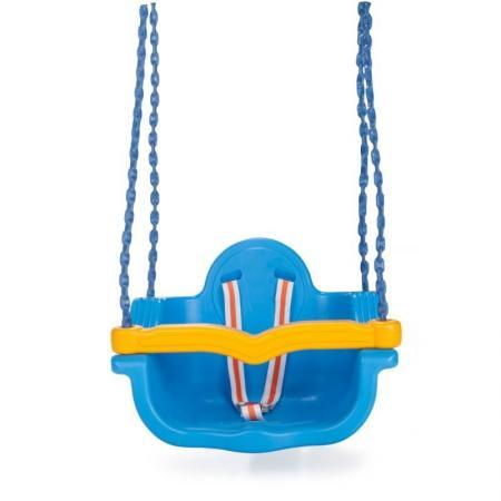 Качели подвесные Pilsan Джамбо на цепях в оплетке цвет голубой качели pilsan do re mi до ре ми 3 в 1