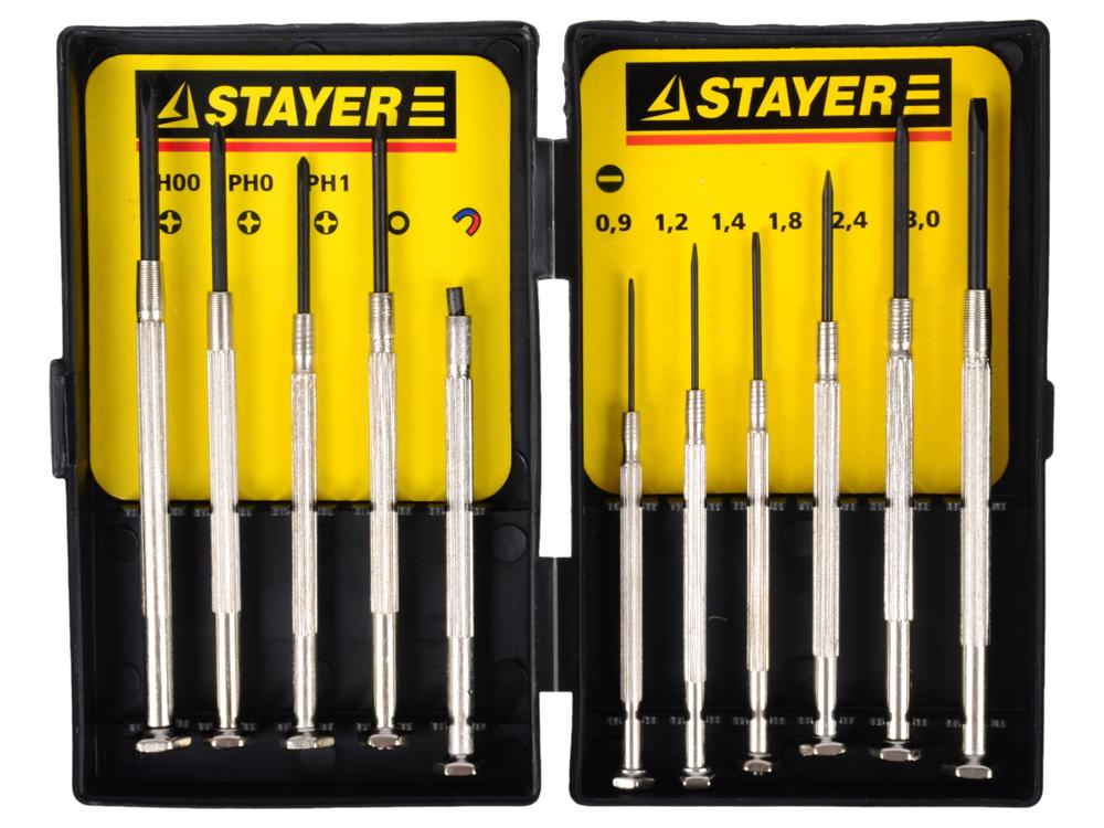 Набор отверточный Stayer для точных работ 11шт 2560-H11_z01 набор резцов для точных работ stayer master 1830 h16 z01