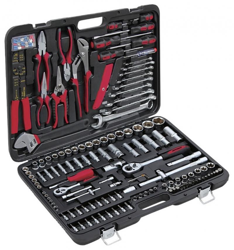 Набор инструментов ZIPOWER PM 3961 172шт набор инструментов для автомобиля zipower профессионального качества 172 предмета pm 3961
