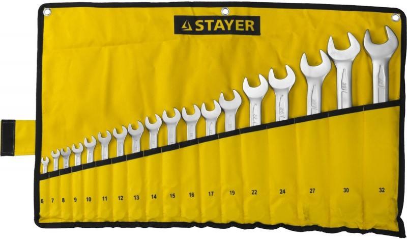 Набор ключей Stayer Profi 18шт 27081-H18 паяльная лампа stayer profi 40655 1 5