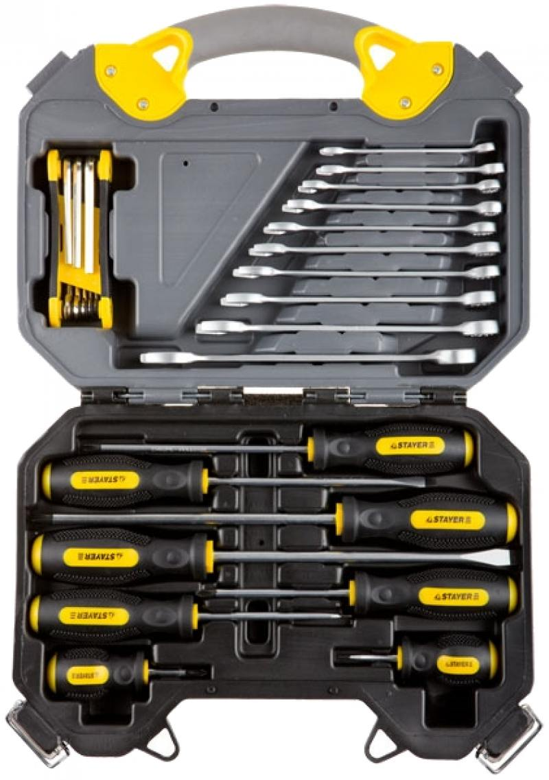 Набор инструментов Stayer PROFI 26шт 27710-H26 набор резьбонарезной трубный stayer professional 28260 h4