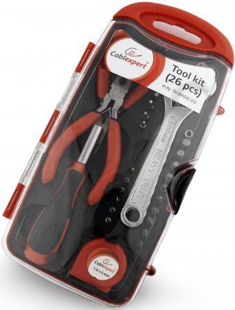 Набор инструментов Gembird Cablexpert TK-BASIC-03 26 предметов набор инструментов gembird tk solder 28 предметов