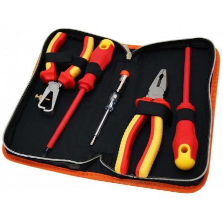 Набор инструментов КРАТОН DE-02/05 для электромонажных работ 6 предметов перфоратор кратон rhe 450 12 3 07 01 022
