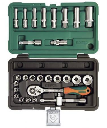Набор инструментов MASTER 308128-M 28 предметов 3/8 6-гранный. 6-24мм в пластиковом кейсе 28 6 37