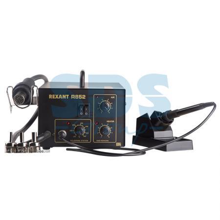 Паяльная станция (паяльник + термофен) 150-500°С (R852) REXANT паяльная станция с контролем температуры мини 220в 8вт rexant zd 928 12 0135