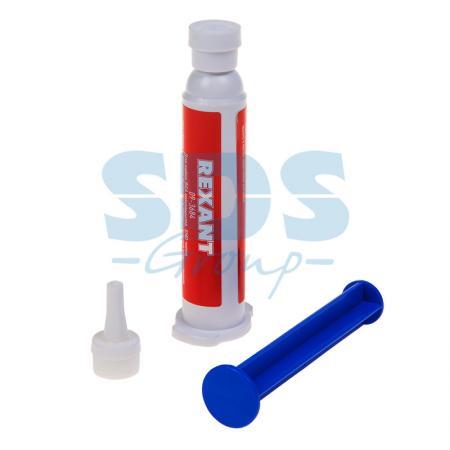 Флюс-гель для пайки BGA и SMD 12мл (шприц) REXANT флюс для пайки rexant 30ml 09 3635