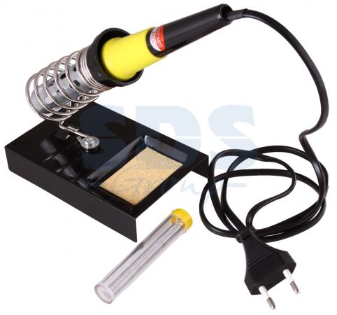 Набор для пайки (паяльник 30 Вт, оловоотсос, подставка, припой) REXANT паяльник rexant набор для пайки 13 12 0166