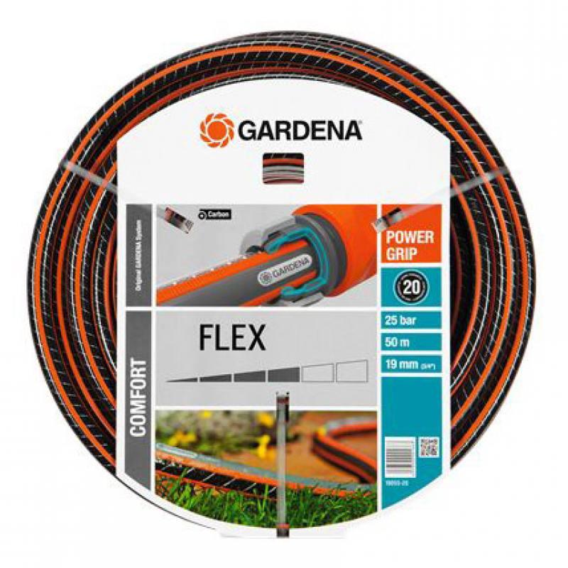 Шланг Gardena Flex 3/4 50м 18055-22.000.00 шланг подающий gardena 3 16 4 6мм 50м 01348 20 000 00