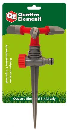 Распылитель QUATTRO ELEMENTI 241-376 3-х лучевой вращающийся дождеватель quattro elementi 241 376