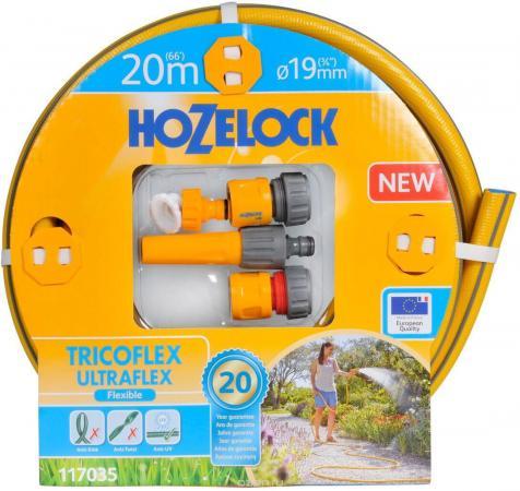 Набор HOZELOCK 117035 TRICOFLEX ULTRAFLEX STARTER SET ДЛЯ ПОЛИВА 19 MM 20 M. все цены
