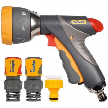 Начальный набор для полива HOZELOCK 2373 Multi Spray Pro Пистолет-распылитель, коннекторы 6 шт. пистолет hozelock 2676 multi spray