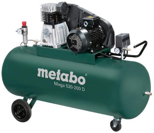Компрессор Metabo MEGA 520-200 D компрессор ременной metabo mega 580 200 d