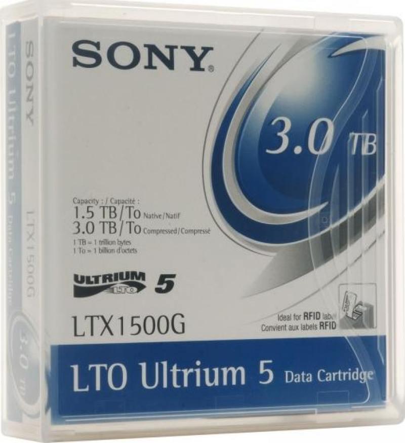 Жесткий диск ленточный Sony LTX1500GN-LABEL 3.0Tb / 1.5Tb native цены онлайн