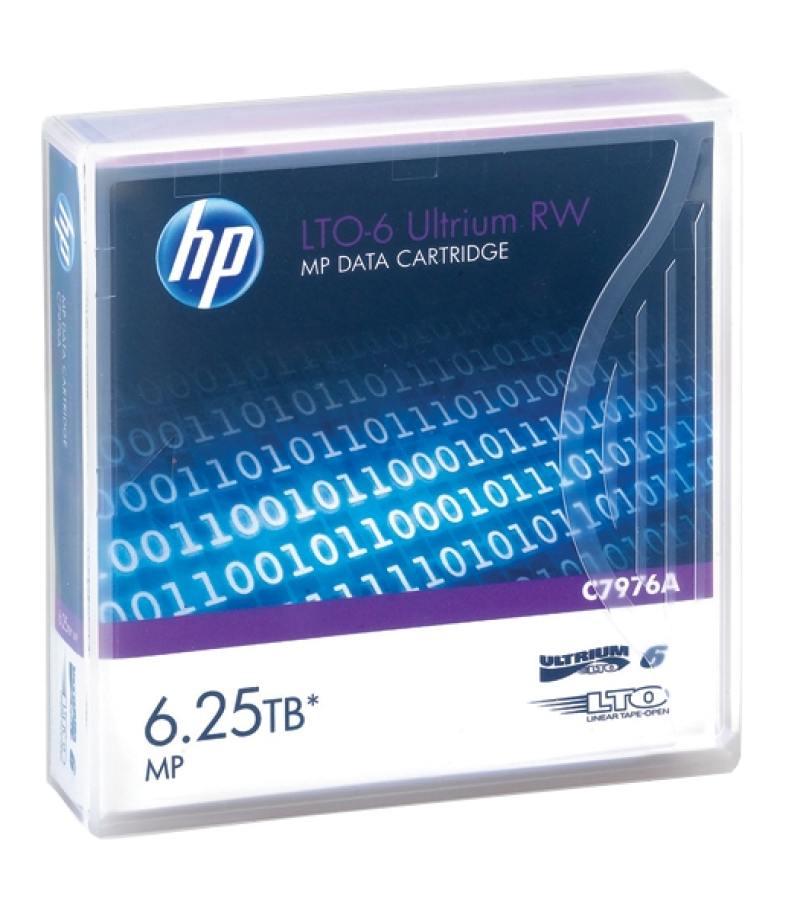 все цены на Ленточный носитель HP LTO-6 Ultrium 6.25TB RW Data Tape (C7976A)