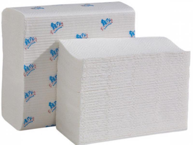 Полотенца бумажные НРБ, Z-укл. в пачке, 2-сл., супербелые, 22х22 см, 150 л. от OLDI