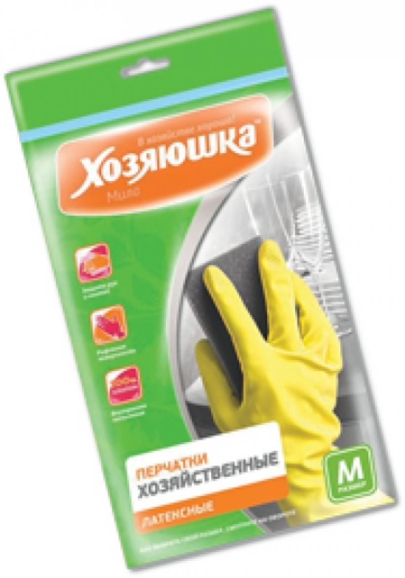 Перчатки хозяйственные латексные Хозяюшка Мила M 17002 от OLDI