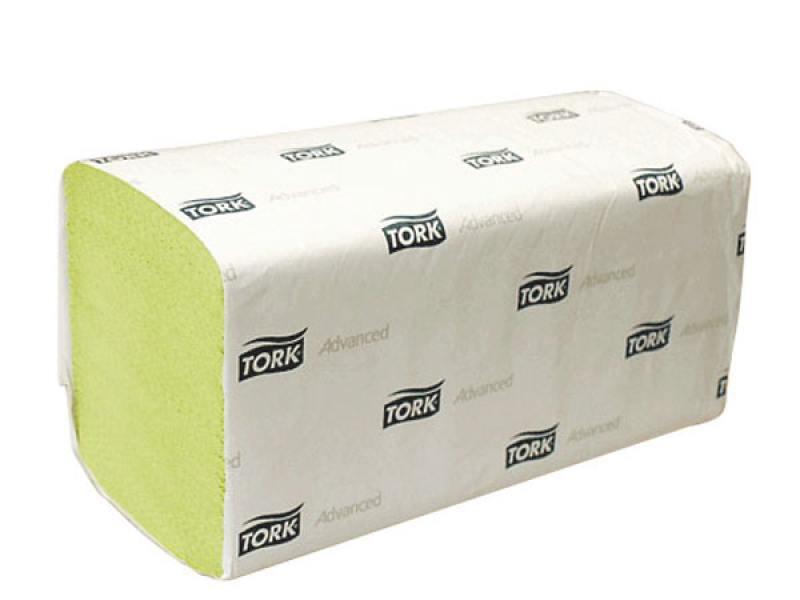 Полотенца бумажные TORK ADVANCED, сложение ZZ, H3, 2-сл., зеленые, 25х23см, 250 л.|1 290179/T от OLDI