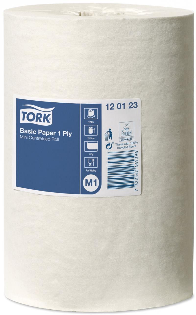 Полотенца бумажные TORK UNIVERSAL 310, с центр. вытяжкой, M1, 1-сл., белые, 21,5смх120м|1 120123/T от OLDI